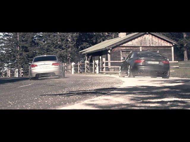 Audi RS5 and BMW 335i on symphonic music
