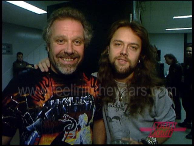 Metallica- Backstage Tour Enter Sandman on Countdown 1992