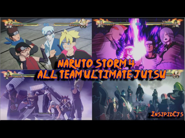 Naruto Storm 4: All Team Ultimate Jutsu / Linked Secret Techniques (Inc DLC Boruto) English