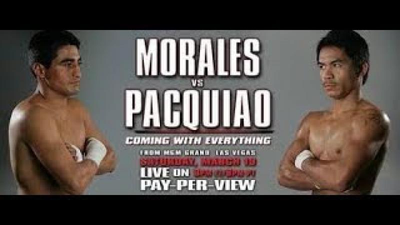 Мэнни Пакьяо Эрик Моралес Manny Pacquiao Erik Morales WBC Пакман Packman Бокс Первый бой Рассечен...