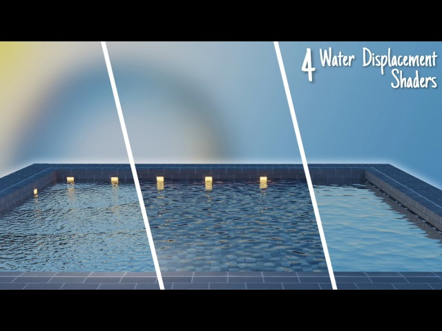 4 Awesome Water Displacement Shaders || Blender Tutorial