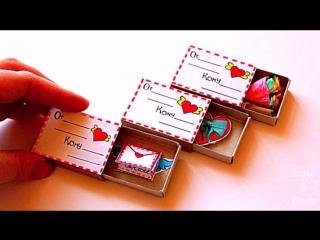 3 ИДЕИ ВАЛЕНТИНОК своими руками Как сделать валентинки How to make Valentine