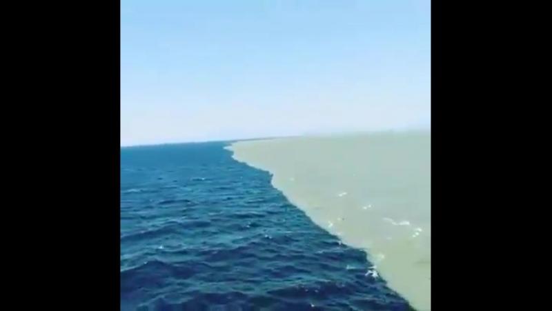 Граница между Атлантическим и Тихим океаном... Они никогда не смешиваются