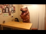 T-rex Tries to use a Spoon