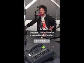 Луи на интервью для 1027KIISFM
