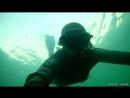 Раннее утро под водой в черном море