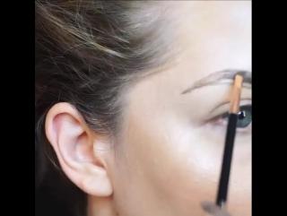 Схема правильного оформления бровей