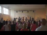 Zumba Warm up at Gargzdu Zumba Party 2014 DJ Baddmixx - Sandra so fine