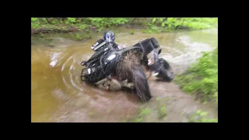 ATV Michurinsk. Броды, падения. Yamaha Grizzly 700, Arctic Cat 650, CF MOTO X8, Стелс гепард 850