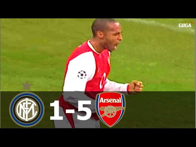 Inter Milan vs Arsenal 1-5 - UCL 2003/2004 - Full Highlights (English Commentary)