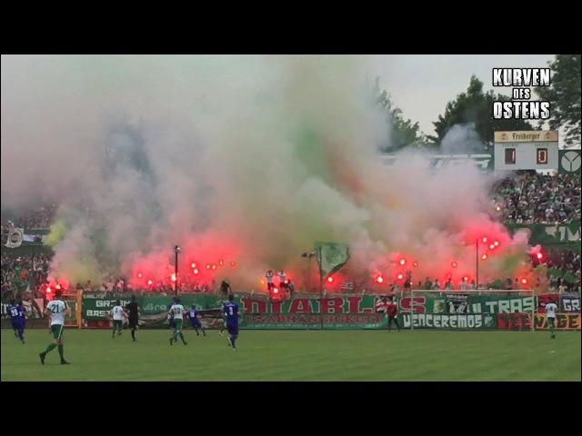 BSG Chemie Leipzig 3:1 Schott Jena 03.06.2017 | Choreo, Pyro Support