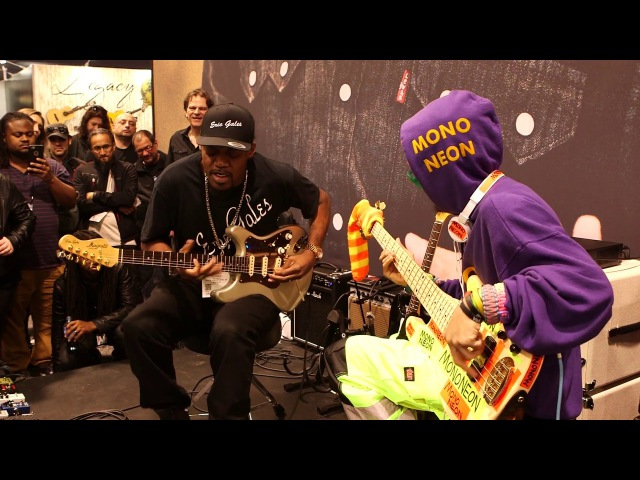 NAMM 2017: Eric Gales MonoNeon Live At The Dunlop Booth