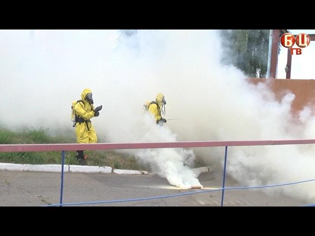 Аварійна ситуація з викидом хлору у повітря (імітація)