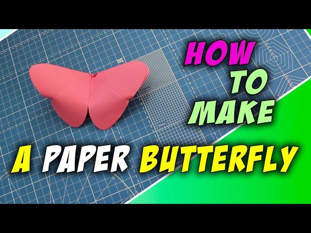 🌸 Как сделать бумажную бабочку