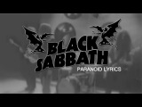PARANOID - BLACK SABBATH lyrics (WITH VIDEO)