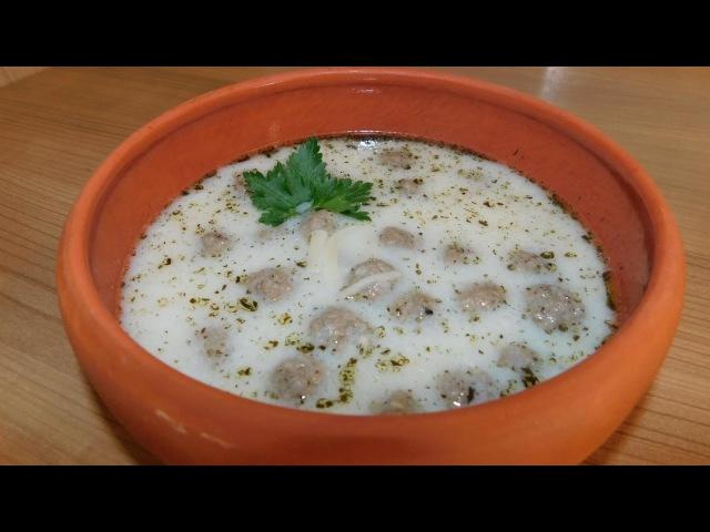 Суп чорба. Турецкий суп с фрикадельками и лапшой
