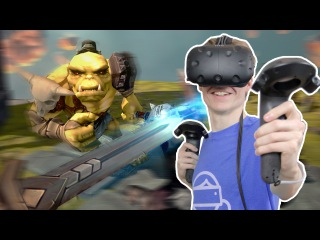FIGHTING ORCS IN VIRTUAL REALITY! | Trickster VR (HTC Vive Gameplay)