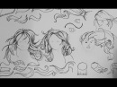 Pen and Ink Drawing Tutorials How to draw long straight hair