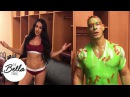 Nikki Bella overheats and chills in only her Calvins while John Cena recovers from being slimed