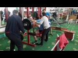 Guketlov Marat RAW squat with wraps 285kg (24 years, weight 90 kg)
