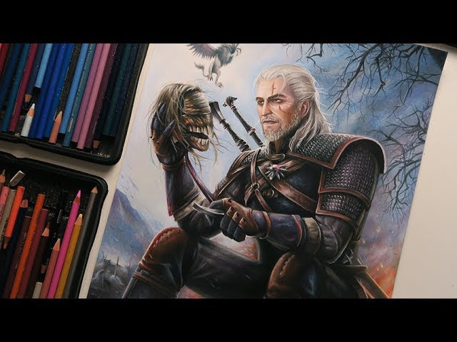 «Ведьмак 3: Дикая Охота» — Создание рисунка Геральта в режиме Time lapse