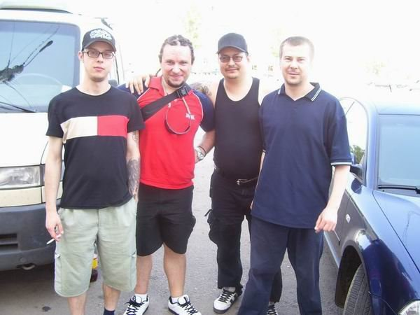 Дацент и участники Turbo Lax: Денис Иванов, Александр Мясников, Сергей Сухинин, 2007 год