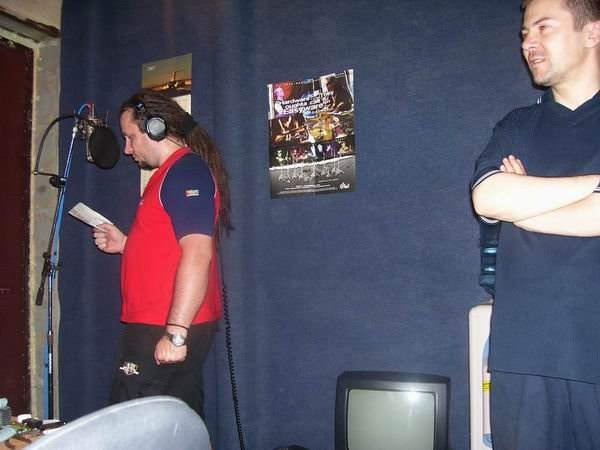 Дацент и Сергей Сухинин во время записи альбома, 2007 год. Фото из архива Turbo Lax