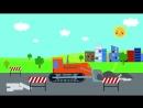 СБОРНИК 1 - Пять веселых развивающих песенок мультиков для детей малышей про трактор и не только-save4