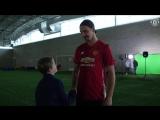 Zlatan Ibrahimovic makes Christmas dreams come true for Foundation participant