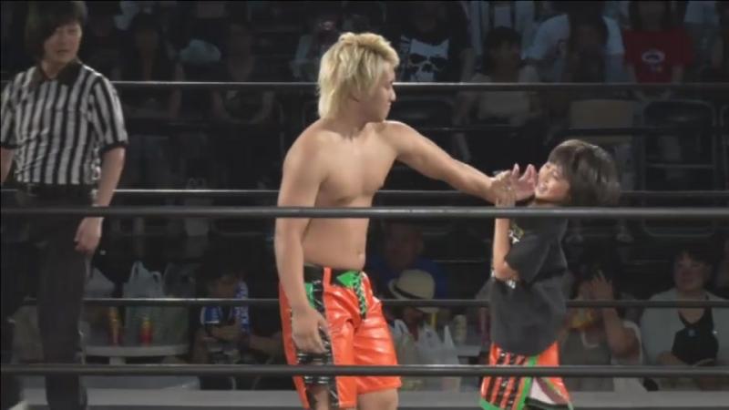Daiki Shimomura vs. Yuni (DDT - Beer Garden Fight 2017 ~ DDT Day ~)