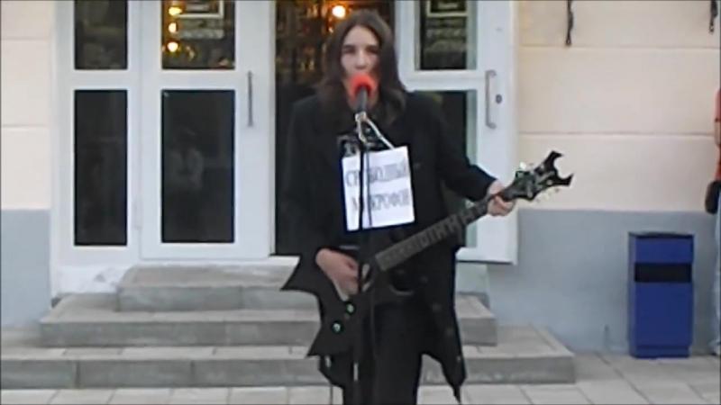 Выступление православного блек рокера