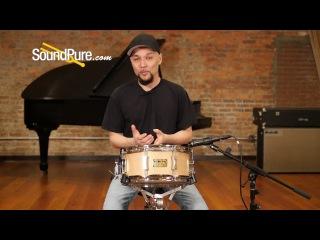 Pork Pie 6x13 Chestnut Bubinga Snare Drum w/ Rings Quick n' Dirty
