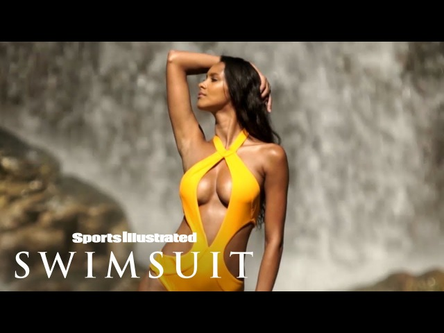 Lais Ribeiro Dares To Take On The Epic Waterfalls Of Sumba Island | Sports Illustrated Swimsuit