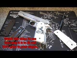 KWC Tanfoglio Witness 1911 How to fit real 1911 grips