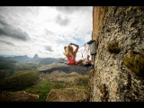 Sasha DiGiulian rock climbing big walls in Brazil