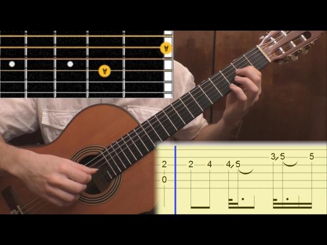Как играть The Unforgiven (Metallica) на гитаре. Guitar lesson, tabs