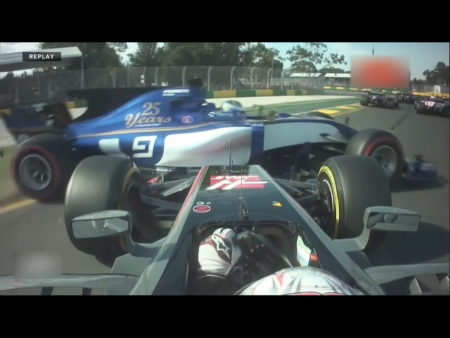 Формула 1 Австралия 2017 столкновение Эрикссон Магнуссен
