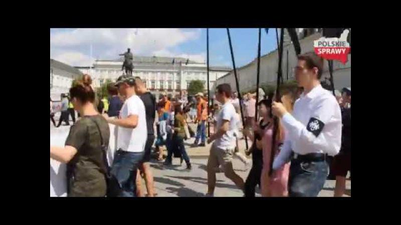 Społeczne obchody Dnia Pamięci Ofiar Ukraińskiego Ludobójstwa na Polakach 9 07 2017 Warszawa