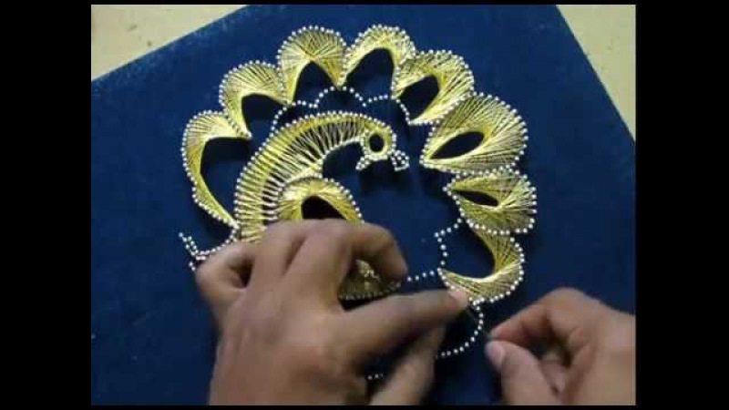 STRING ART Peacock DIY thread art for beginners