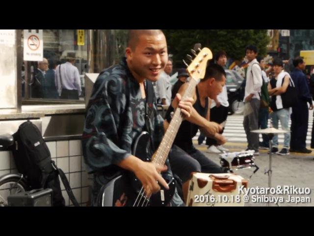 Kyotaro Rikuo @ Shibuya Japan 渋谷TSUTAYA前ストリートライブ 渋谷・原宿に出没する男前2人組