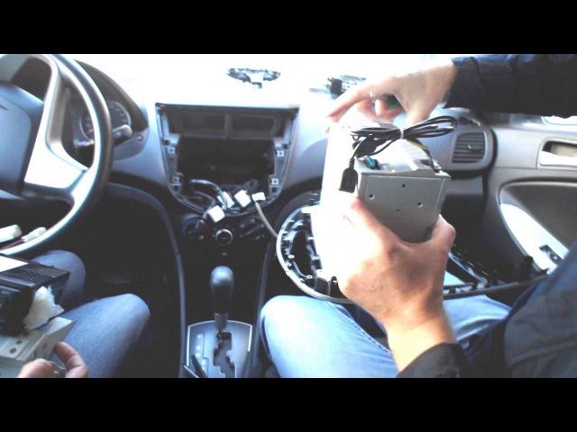 Установка штатной магнитолы в автомобиль Хюдай Солярис (Интернет магазин Сибмаркет)