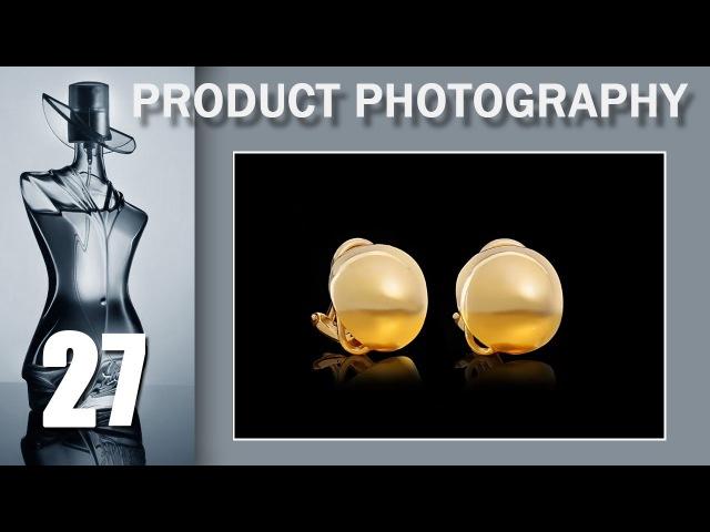 07. Juwelry Photo. Настоящие убийцы предметчика- круглые золотые клипсы