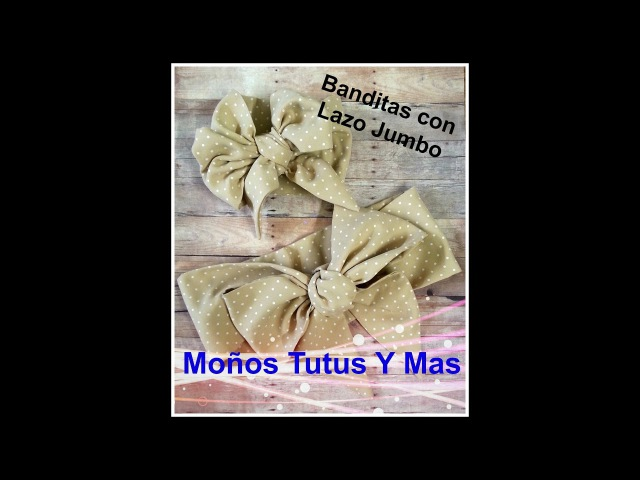 BANDITA DE TELA CON LAZO JUMBO Paso a Paso JUMBO BOW HEADBAND Tutorial DIY How To PAP Video 127