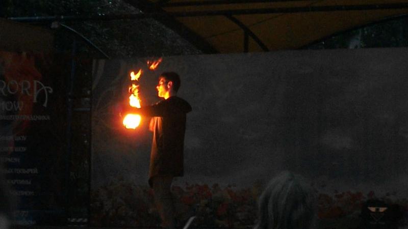 Fire show to PLACEBO - Новосибирск, 13.08.2017