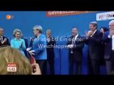 Merkel Anti Deutsch - Sie schmeisst Deutschlandfahne weg!
