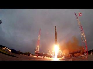 Кадры пуска ракеты-носителя «Союз-2» с космодрома Плесецк