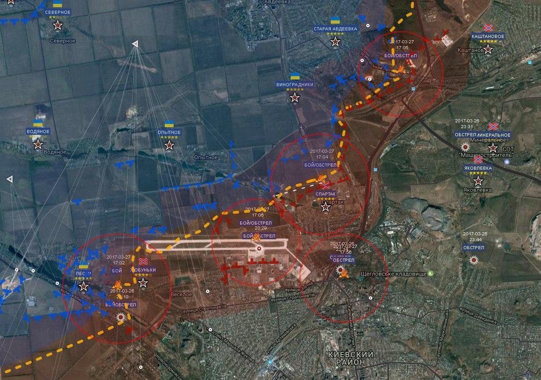 Сводка военных событий в Новороссии за 28.03.2017