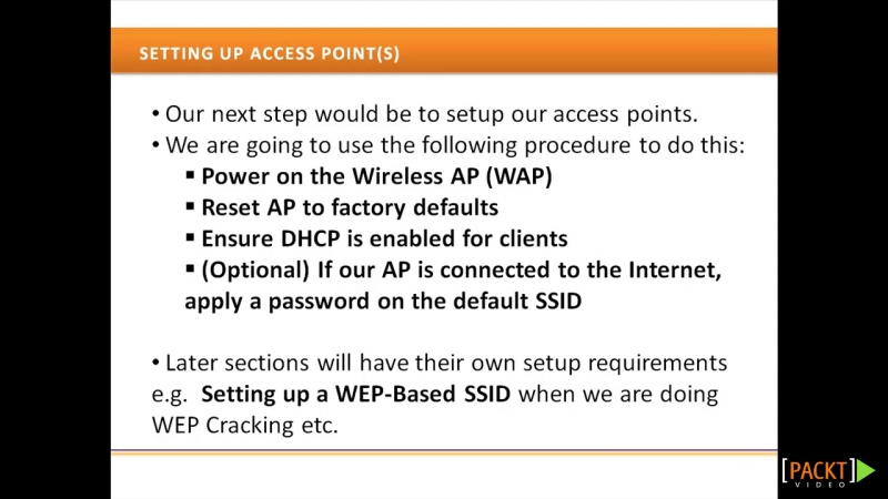 04 BT5 Wireless Penetration Testing.Setting Up Your Wireless Access Points (APs) and Clients