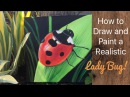 Lady Bug Acrylic Painting - By Artist, Andrea Kirk   The Art Chik