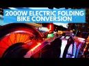 2kW Electric Folding Bike Conversion 700Wh 25Kg 100Km range